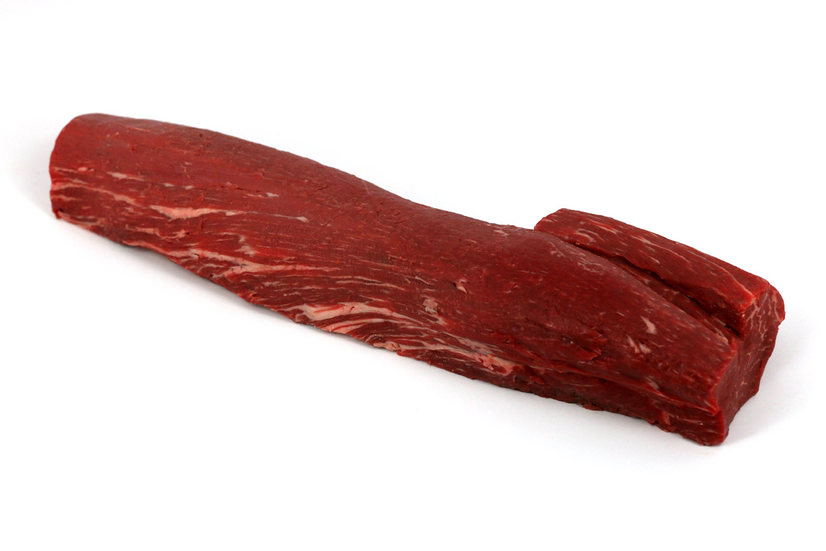 BEEF TENDERLOIN WHOLE FULLY TRIMMED CAB   190PR PORTION READY   Neesvigu0027s  Food Service